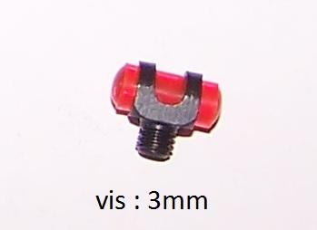 Mire rouge pour fusil avec vis de diametre de 3mm