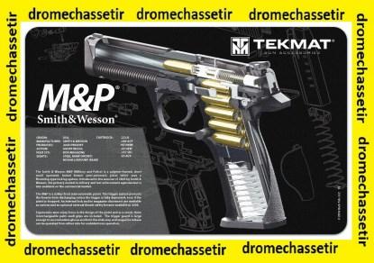 Tapis de nettoyage neoprene decor Pistolet Smith & Wesso MP coupe didactique