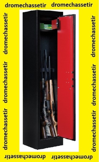 Coffre Fort Elite Pionner modele Pioneer IV-4 pour 7 armes avec optiques et coffre interieur