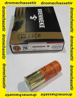 Boite de 10 cartouches Prevot à balle Brenneke S de 24 grammes