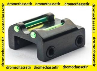 hausse a fixer sur bande ventilée de 8 à 10mm avec 2 fibres verte fluo