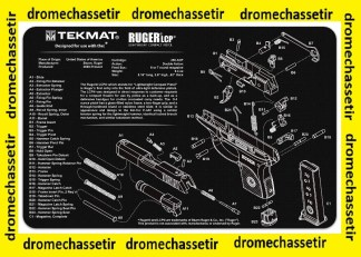 Tapis de nettoyage neoprene decor Pistolet Ruger LCP