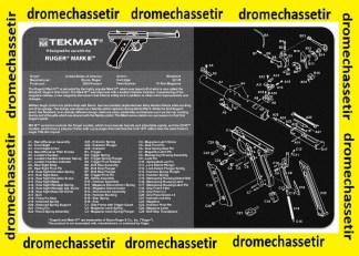Tapis de nettoyage neoprene decor pistolet Browning Ruger MK3