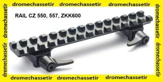 rail picatinny acier pour CZ 500