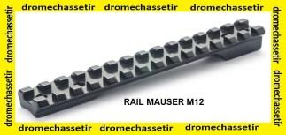 Rail acier picatinny pour Mauser M12 avec vis RUSAN