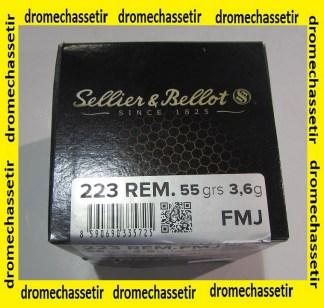 boite de 100 cartouches cal 223 remington 55 FMJ