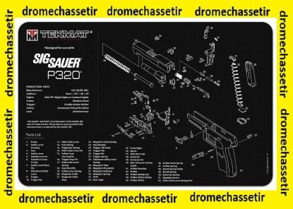 Tapis de nettoyage neoprene decor pistolet Sig Sauer P320