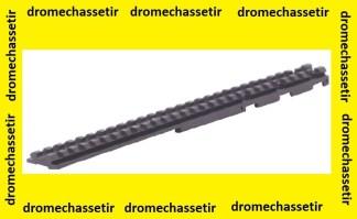 rail picatinny de 21mm de largeur a fixer sur bande ventilée de fusil