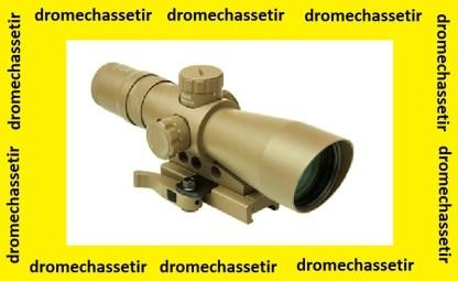 Lunette compacte tactique nc star2-7x32 reticule P4 sniper avec montage a serrage rapide