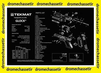 Tapis de nettoyage neoprene decor Pistolet GLOCK 17