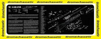 Tapis de nettoyage neoprene decor M1 Garand