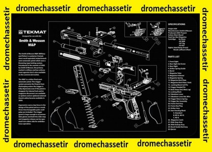 Tapis de nettoyage neoprene decor pistolet Smith & Wesson M&P