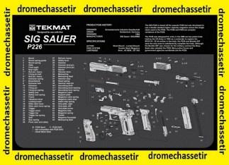 Tapis de nettoyage neoprene decor Sig Sauer P226