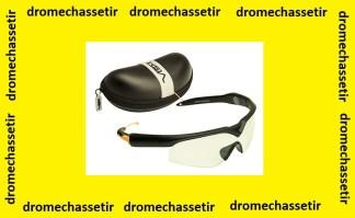 lunette de tir et bouchons pour la protection audititve