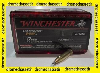 BOITE DE 50 CARTOUCHES WINCHESTER CAL 17 HMR