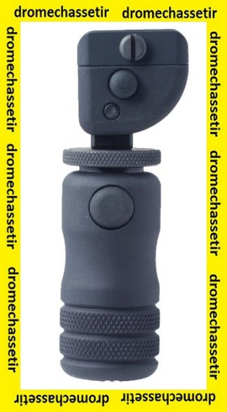 Monopod de crosse Accu-shot, reglable, fixation sur rail picatinny noir