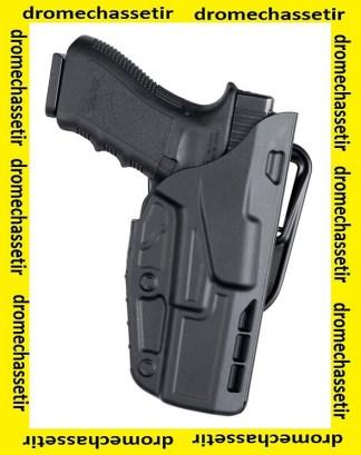 Holster gaucher de ceinture Safariland, modele 7377 7TS pour Glock 19 en couleur Noir