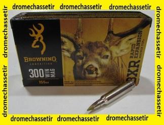 boite de 20 cartouches Browning BXR, cal 300 winchester magnum, 155 grains