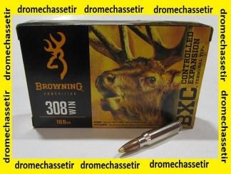 boite de 20 cartouches browning , cal 308 winchetser, 168 grains BXC