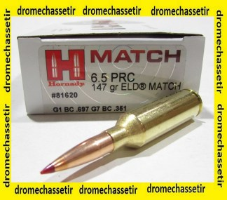 boite de 20 cartouches Hornady 6,5 PRC, ELD-Match 147 grains, ref 81620