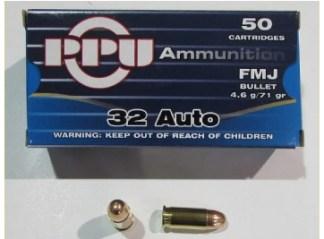 Munitions armes de poings