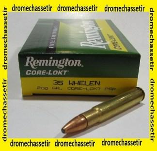 1 boite 20 cartouches de calibre 35 Whelen, Remington Core Lokt PSP 200 Grains
