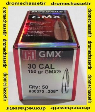 boite de 50 ogives Hornady GMX cal 30 poids 150 grains ref 30370