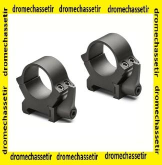 lot de 2 anneaux Leupold QRW2 serrage levier, Haut , 25,4mm, noir matte, ref 174065