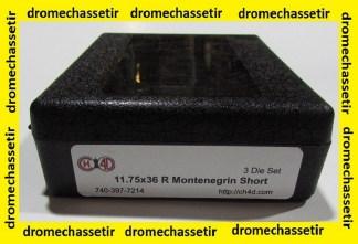 Jeux d'outils CH4D pour le rechargement en calibre 11,75x36R Monteningrin court