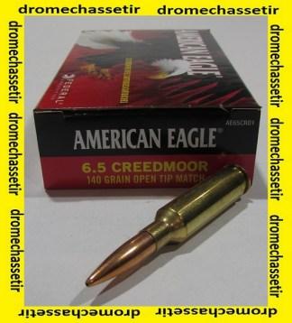Boite 20 cartouches Federal american eaglecal 6,5 Creedmoor, 140 grains OTM