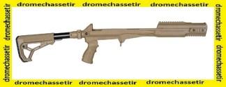 Crosse Tactique Fab Defense pour SKS, pliante avec garde main picatinny, FDE