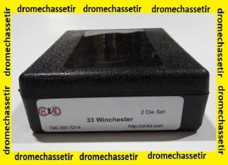 Jeux d'outils CH4D de rechargement en calibre 33 Winchester