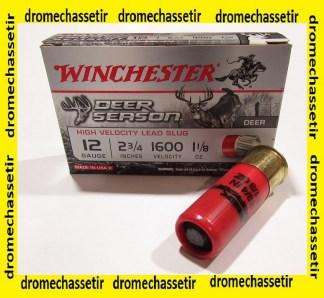 boite 5 cartouches Slug Winchester Deer season cal 12/70, 25 grammes