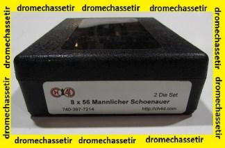 Jeu d'outils CH4D de rechargement en calibre 8x56 Mannlicher schoenauer