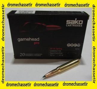 Boite 20 cartouches SAKO 30-06 GAMEHEAD PRO 165 grains