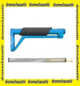 crosse aluminium MIL-SPEC ressort buffer Bleu