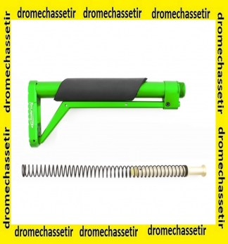 crosse aluminium MIL-SPEC ressort buffer Vert