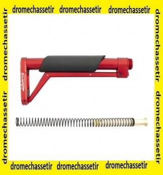 crosse aluminium MIL-SPEC ressort buffer rouge