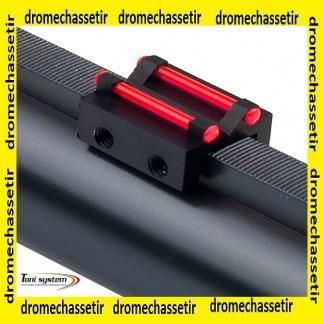 hausse a fixer sur bande ventilée de 6 à 8mm avec 2 fibres rouge fluo