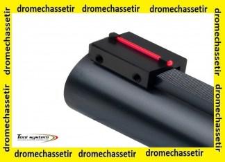 mire a fixer sur bande ventilée de 8mm avec fibre rouge fluo 1mm