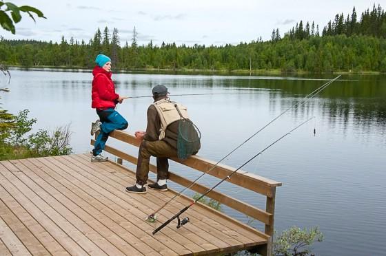 Tillgängligt fiske vid Lillfisklösen i Valsjöns fvo. Foto Lars Krögerstöm