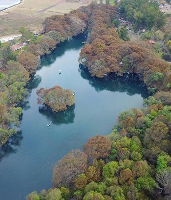 Lago camecuaro en Michoacán