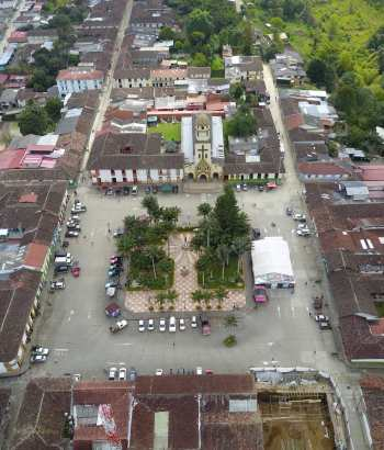 Plaza Bolívar en Salento