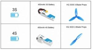 BetaFPV hx115 hdのバッテリー注意点