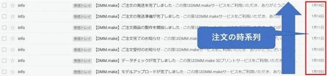 dmm 3dプリントサービス注文履歴