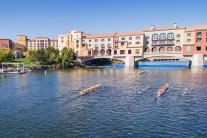 Row drone las vegas lake rowing