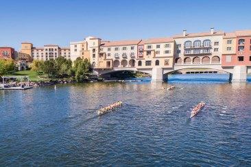 Row drone las vegas lake rowing