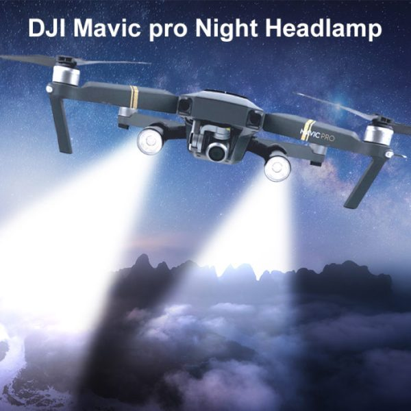 drone-zoom Night Lamp For DJI Mavic Pro Flash LED Filght Light Lamp Kit for DJI Mavic Pro Night Flight Searching Lighting Drone Accessories