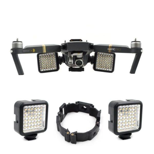 drone-zoom DJI Mavic Pro Platinum Drone Part Night Flying LED Light Mount Buckle Holder Bracket Frame Kit for DJI MAVIC Pro Accessories