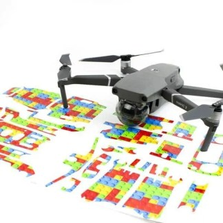 Lego Bricks Drone Skin Wrap DJI Mavic 2 Zoom Mavic 2 Pro
